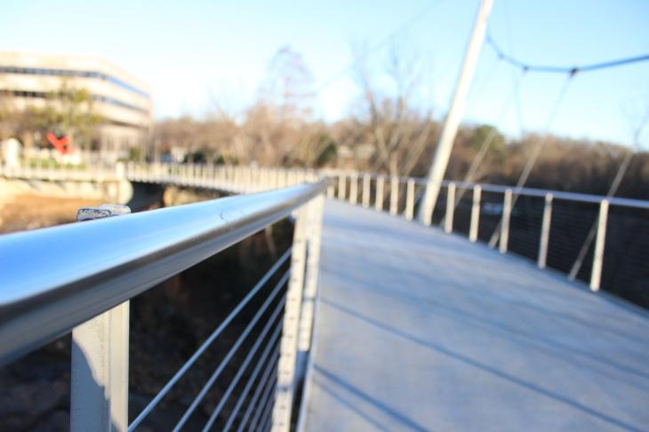 Greenville, SC suspension bridge