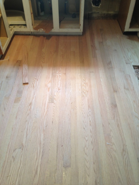 stained wood floors