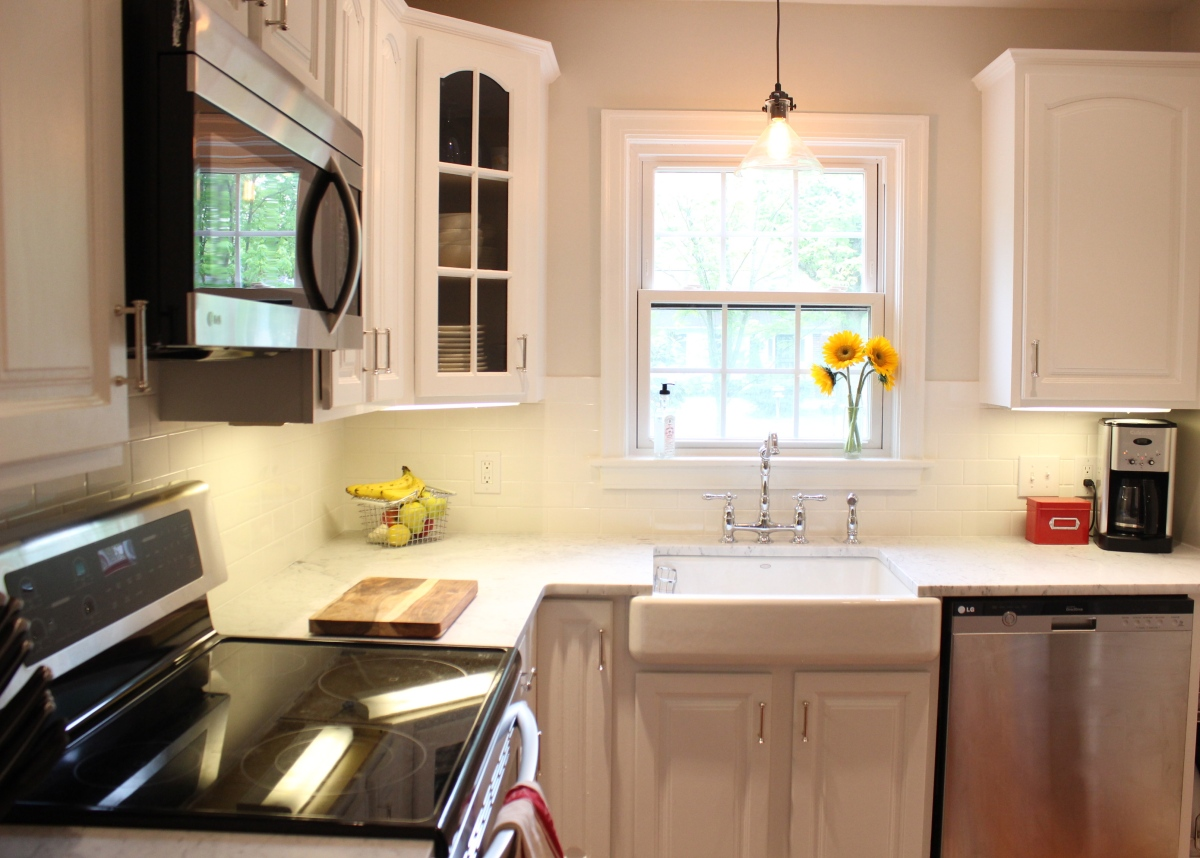 The kitchen remodel before and after growing up gibson for Before and after pictures of remodeled kitchens