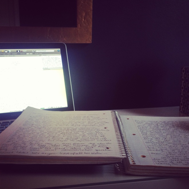 writing manuscript